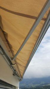 storen-reparatur-kaputte-sonnenstore-vor der Reparatur Luzern