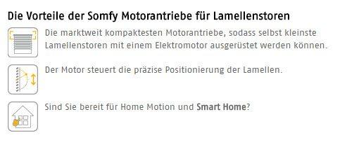 Die Vorteile der Somfy Elektronik für Lamellen