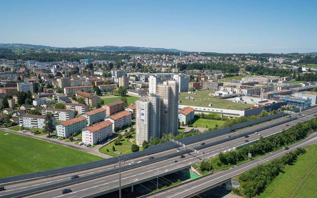 Storenreparatur bei Hochhaus Emmen / Luzern